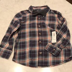 Old Navy Long Sleeved Button Down with Bow Tie
